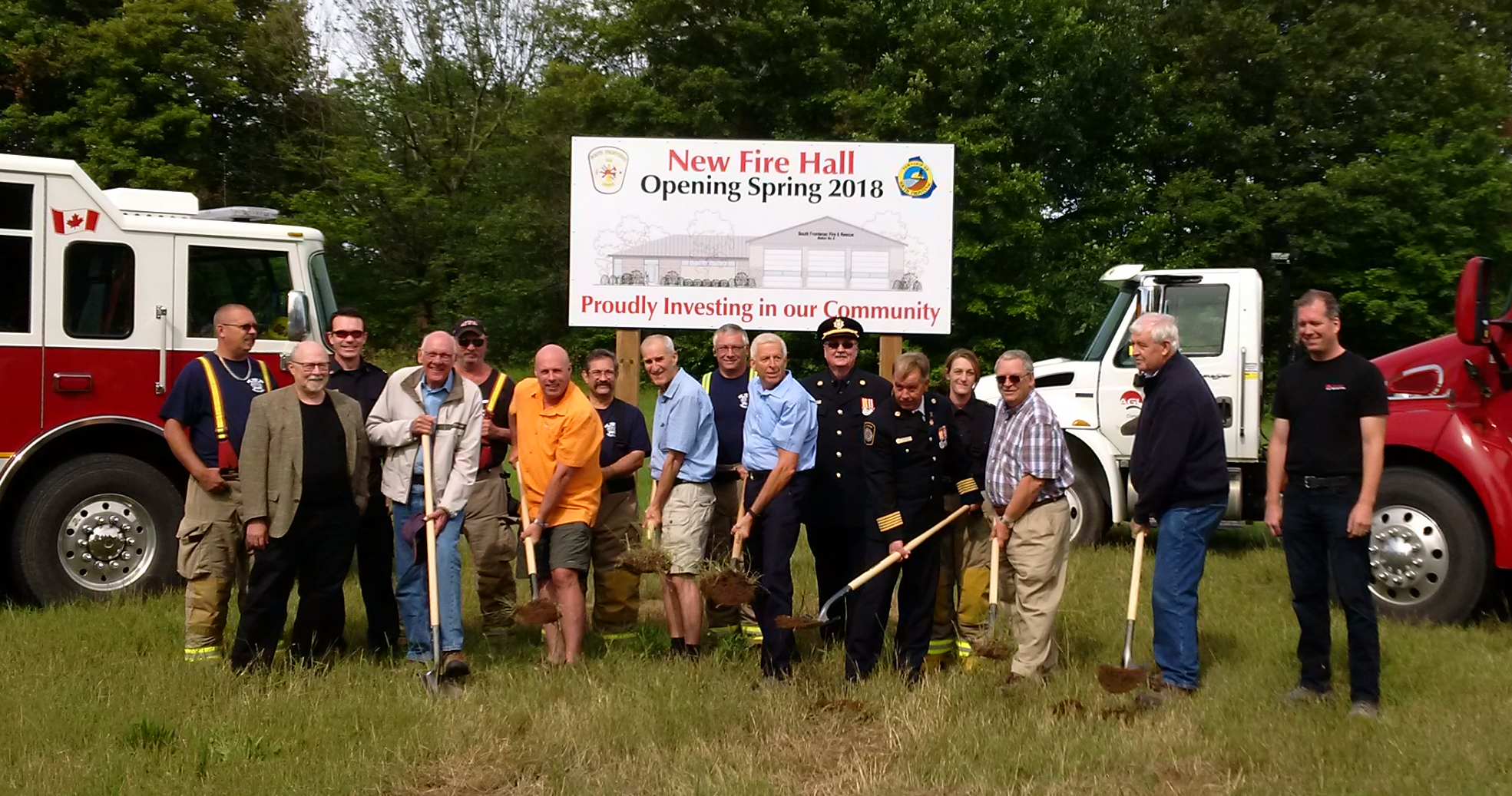 Ground Breaking Ceremony for Fire Hall in Perth Road