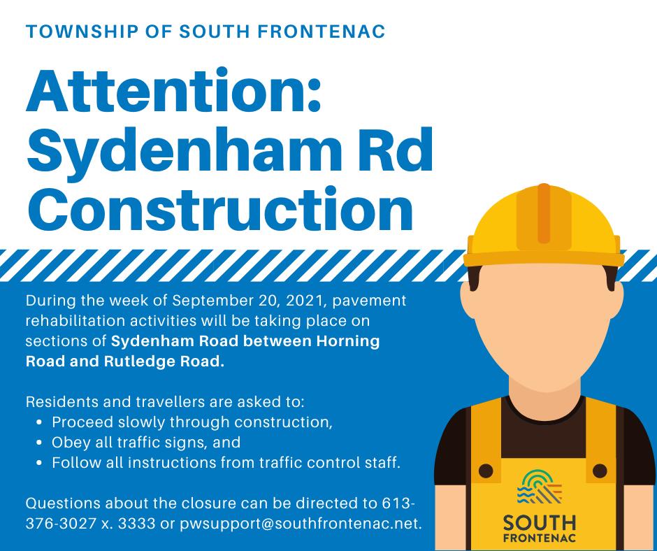 Sydenham Rd Construction