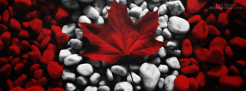 Canadian Flag made from rocks
