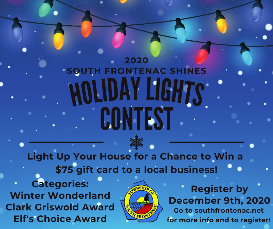 South Frontenac Shines Holiday Light Contest Poster