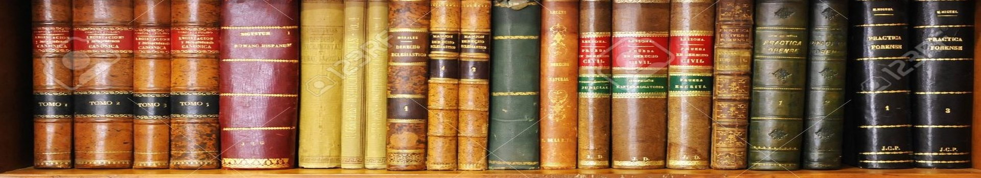 bookshelf of old books